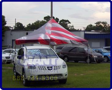Custom american flag tent