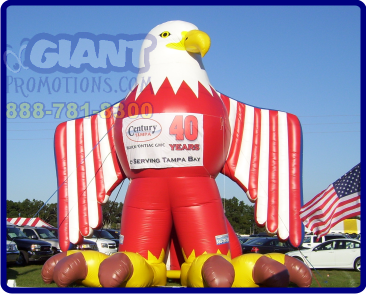Patriotic eagle giant inflatable advertising balloon.