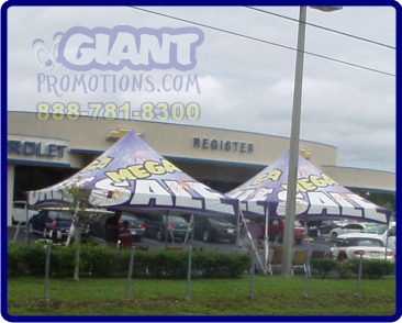 Twin mega sale tents