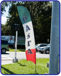pasta feather flag