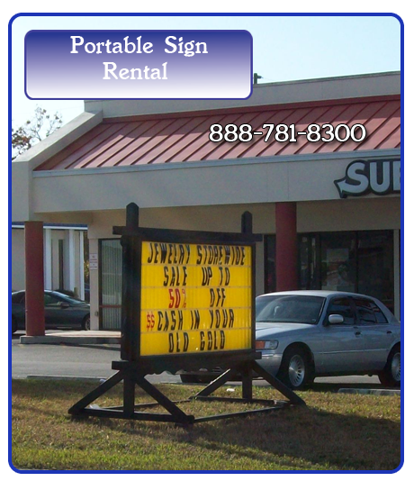 Portable Sign Rental