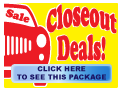 Closeout Deals Package