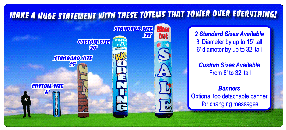 Giant-Promotions-Inflatable-Totem-Tower-Advertising-sales-and-rentals