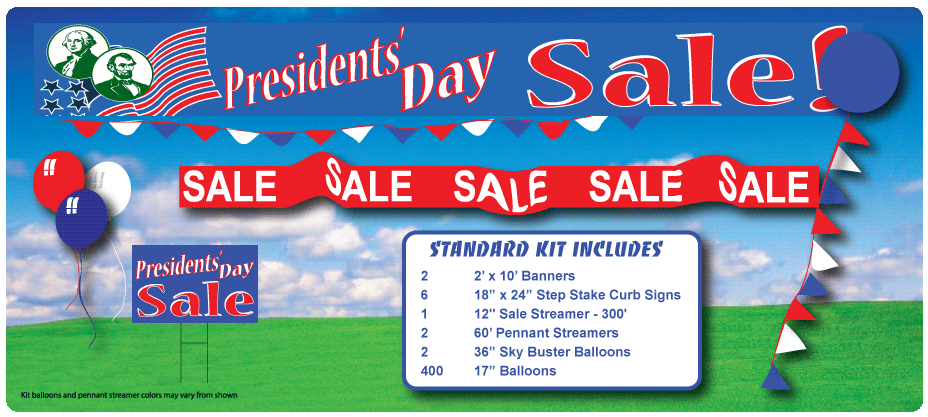president's day sale in a box