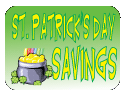 St Patrick's Day sale in a box