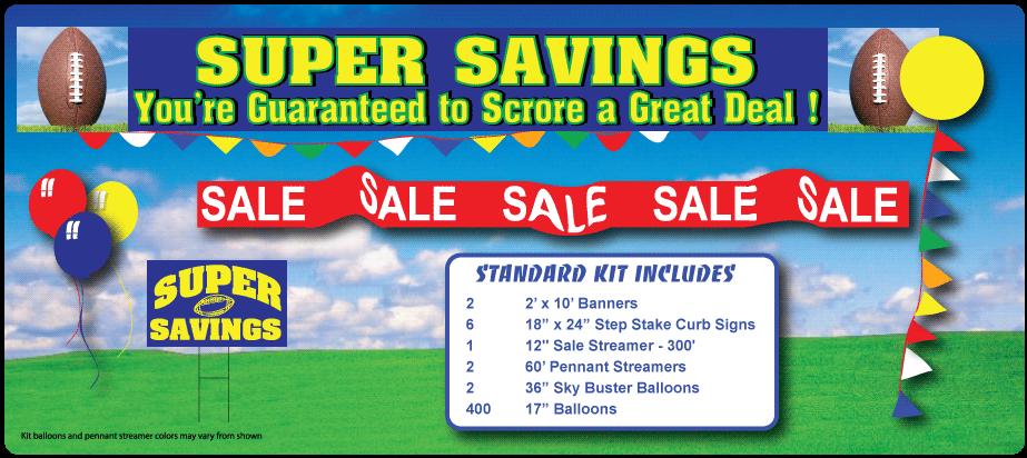 Super Bowl Savings Sale in a Box