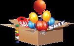 sale in a box